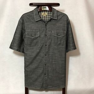 Woolrich casual button down grey chabrey